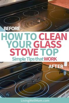 Ready to know the secret to getting a glass stove top clean? Click to read - it is GENIUS!!! Cleaning Flat Top Stove, Clean Stove Top, Homemade Cleaning Products, Natural Cleaning Products, Electric Stove, Dishwasher Detergent, Carpet Cleaners, Home Made Soap, Homemaking