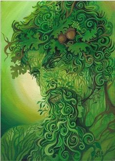 The figure known as the Green Man is a god of vegetation and plant life. He symbolizes the life that is found in the natural plant world, and in the earth itself.