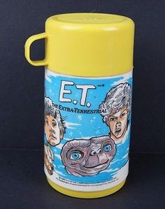 Vintage 1982 ET Thermos from Aladdin Industries Movie ET MISSING LID