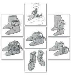 Historical Men Women Costume Shoes Boots Sewing Pattern 5233 Butterick A New Clothing Patterns, Sewing Patterns, Clothing Styles, Patron Butterick, Jester Costume, Costume Patterns, Shoe Pattern, Historical Costume, Vintage Patterns