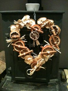 Last years dried fruit christmas wreath, lots more this year.
