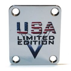 Custom Shop Neckplate USA / Limited Edition -Fits Strat /Tele / Bass - Our plates are made in the USA and will give your guitar that custom finishing touch it deserves. Guitar Gifts, Guitar Neck, Phone Cases, Bass Guitars, Usa, Touch, Plates, Shopping, Licence Plates