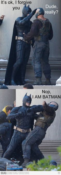 Batman & Bane idk y but I thought this was hilarious