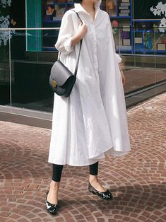 Casual Cropped Long Shirt Dress in 2020 Oversized Shirt Dress, Long Shirt Dress, Casual Work Dresses, Dresses For Work, Elegant Dresses, Sexy Dresses, Summer Dresses, Formal Dresses, Wedding Dresses