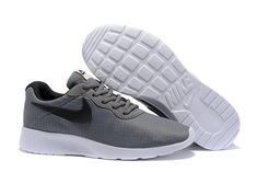 low priced 46d37 4cefd NOUVEAU Nike Tanjun Premium Mens 876899-002 Cool Grey Black Noir Mesh Running  Shoes EUR