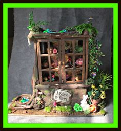 Fairy Magical Alice in Wonderland Hutch witch dollhouse miniature fairytale ooak Custom orders Welcome