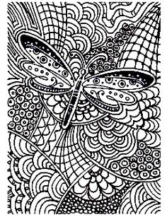 free coloring page coloring adult difficult butterfly 15 coloring page of - Coloring Pages Difficult Abstract