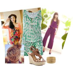 Jumpsuits by own-style on Polyvore featuring moda, VILA, GUESS and Rare London