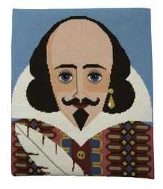 William Shakespeare — EmilyPeacock Cross Stitch Kits, Cross Stitch Embroidery, Cross Stitch Patterns, Cross Stitching, Tent Stitch, Stitch 2, Modern Tapestries, Tapestry Kits, Peacock Print