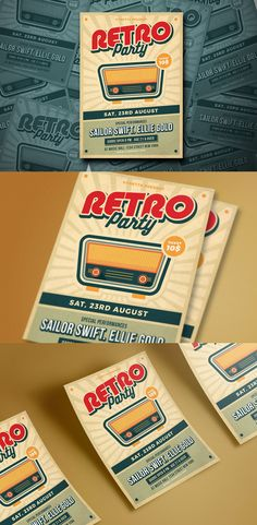 Retro Music Poster / Flyer Template PSD