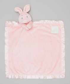 Look what I found on #zulily! Pink Bunny Security Blanket by Pickles #zulilyfinds