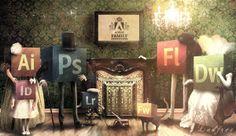Adobe Family. 1882 | Ladfree   #digital_art #graphic #design