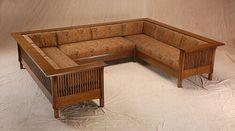 Prairie Settle Sectional Craftsman Furniture, Amish Furniture, Deco Furniture, Home Decor Furniture, Wooden Sofa Designs, Wooden Sofa Set, Living Room Furniture Online, Hall Interior, Bedroom Bed Design