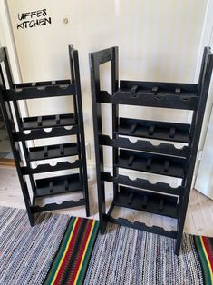 Ordning i vinkällaren » Sevendays. Gjorde egna hyllor av en gammal träsoffa. Shoe Rack, Magazine Rack, Cabinet, Storage, Kitchen, Furniture, Home Decor, Clothes Stand, Purse Storage