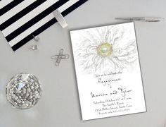 Shabby Chic Invitation Engagement Bridal by PaperHabitStudio