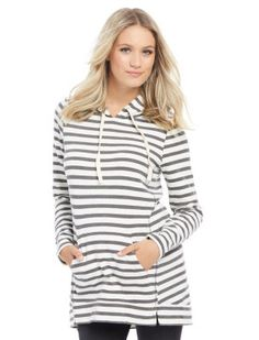 Long Sleeve Relaxed Fit  Maternity Hoodie