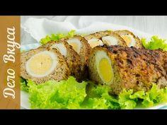Мясной рулет с яйцом видео-рецепт