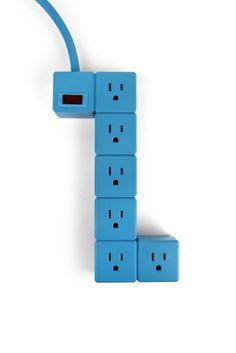 Modern Blue Block Power Strip