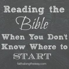Reading the Bible can be intimidating for those who don't know where to start. These practical suggestions offer a place to start connecting with God. bible studies bible study plans