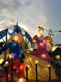 This whole ensemble is 1 lantern | The annual Lantern Parade at the University of the Philippines 2014 (photo by Joseph Morong)