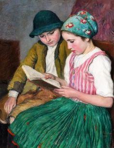 GLATZ OSZKÁR (1872-1958) - Bujáki gyerekek, 1934