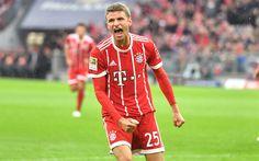 Download wallpapers Thomas Muller, 4k, Bayern Munich FC, Germany, German footballer, portrait, football stadium, Bundesliga
