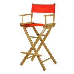 Casual Home 30'' Director's Chair Bar Stool, Orange