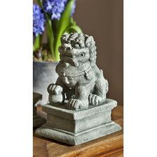 Temple Foo Dog Statue