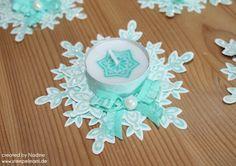 Tischdekoration Stampin Up bestempelte Kerze Candle - Festive Flurry tea light decoration