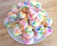 You'll Never Guess the Secret Ingredient in These Vegan Rainbow Meringues- It's chickpea water!