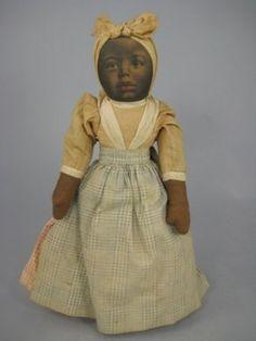 folk art rag doll...