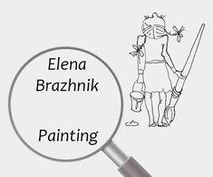 Elena Brazhnik   Painting   Printable   Design   Interior   Instant Download   Digital Image for Print