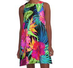 'Drive You Mad Hibiscus Pattern' Graphic T-Shirt by Elena Belokrinitski You Mad, Hibiscus, Chiffon Tops, Tie Dye Skirt, Skirts, T Shirt, Stuff To Buy, Dresses, Closet