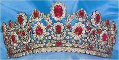 The French Crown Ruby Tiara, in the version made for the Duchess of Angoulême which is believed to be in existence today
