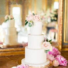 If you are looking for a timeless, elegant cake for your wedding day white wedding cake with flowers is the way to go. It's classy and elegance. It can be personalised with adding lace or ribbon detail and floral details just add softness. Wedding Cakes With Flowers, Beautiful Wedding Cakes, Elegant Cakes, Wedding Cake Designs, Special Day, Wedding Day, Ribbon, Classy, Detail