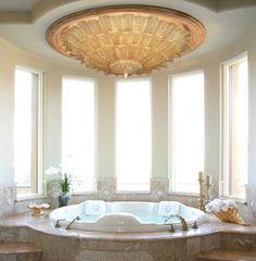 Murano Glass Lighting and Chandeliers - Location Shotsd modern bathroom