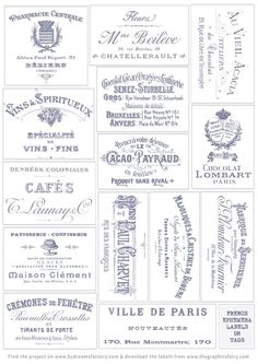 Make French Watercolor Labels - Stunning! - The Graphics Fairy