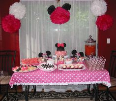 Minnie Mouse Birthday Party Ideas   Photo 4 of 13   Catch My Party