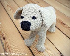 Labrador Puppy Amigurumi Pattern Dog Crochet by StuffTheBody