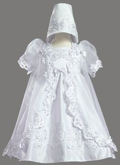 $78.95-$93.00 Baby White Satin Christening Baptism Dress with Organza Cape and Matching Bonnet 0 (9 Month) -  http://www.amazon.com/dp/B0030DJRBW/?tag=pin2baby-20