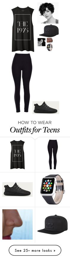"""D"" by fashion12guru on Polyvore featuring adidas and Billabong"