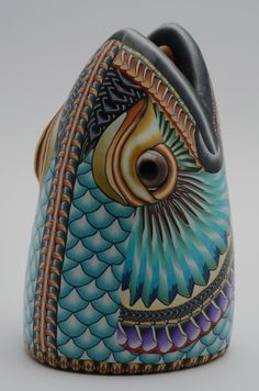 Red Drum vase by Jon Stuart Anderson.