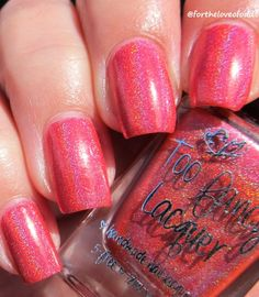 Too Fancy Lacquer Pink Flames