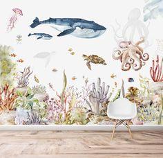 Under The Sea Wallpaper   Watercolour   Mural