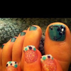My pretty spring mani and pedi from Nail Studio in Mountain View, NC :)