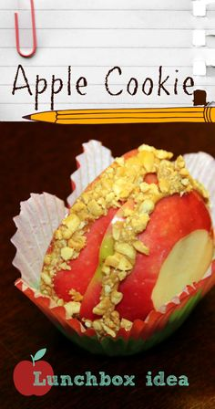 Apple Cookie lunchbox idea