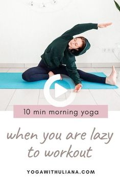 10 Minute Morning Yoga, Morning Yoga Routine, Morning Yoga Stretches, Bed Yoga, Yoga Routine For Beginners, Gentle Yoga, Yoga Poses, Haha, Workout