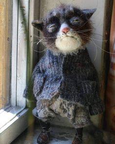 Сегодня всемирный день кошек А это котяка-подозревака от Кати Козуненко❤ #праздник #денькошек #игрушки #котикошка #котики #игрушка