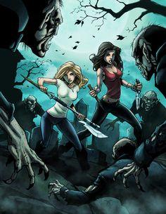 cool Buffy artwork by Randy Green