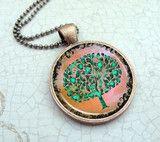 """Tree of Life"" Green Tree Necklace   Lizabettas"